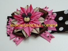 Como hacer Flor puntas con cinta, lindo moños ,cabello Niñas, Tutorial, ...