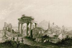 Η Πύλη της Αρχηγέτιδος Αθηνάς στη Ρωμαϊκή Αγορά της Αθήνας. Στο βάθος διακρίνεται το οθωμανικό ιεροδιδασκαλείο (Μεντρεσές). - WRIGHT, George Newenham - ME TO BΛΕΜΜΑ ΤΩΝ ΠΕΡΙΗΓΗΤΩΝ - Τόποι - Μνημεία - Άνθρωποι - Νοτιοανατολική Ευρώπη - Ανατολική Μεσόγειος - Ελλάδα - Μικρά Ασία - Νότιος Ιταλία, 15ος - 20ός αιώνας