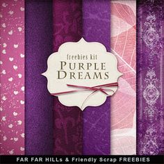 Far Far Hill - Free database of digital illustrations and papers: Freebies Paper Kit - Purple Dreams