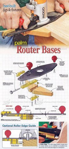 DIY Palm Router Bases - Router Tips, Jigs and Fixtures | WoodArchivist.com