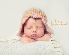 Crochet PATTERN - Vintage Baby Bonnet Crochet Hat Pattern - Instant Download PDF 323 - Newborn to Adult - Photography Prop Pattern