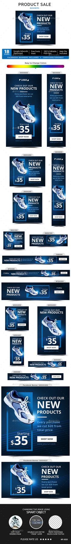 Product Sale Web Banners Template PSD. Download here: http://graphicriver.net/item/product-sale-banners/14720571?ref=ksioks