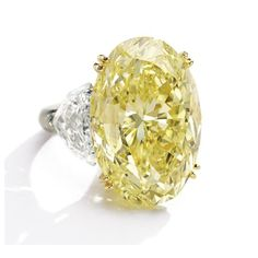 36.99 carat IF Yellow Diamond Ring Top Seller at Sotheby's Magnificent Jewels Auction