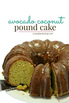 avocado coconut pound cake