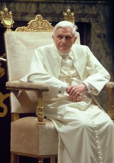 "Benedict XVI (born Joseph Aloisius Ratzinger; 16 April 1927) is pope emeritus of the Catholic Church. He served as the 265th pope from 2005 to 2013. On 11 February 2013, Benedict announced his resignation before the cardinals, citing a ""lack of strength of mind and body"" due to his advanced age. His resignation became effective on 28 February 2013. He is the first pope to resign since Pope Gregory XII in 1415, and the first to do so on his own initiative since Pope Celestine V in 1294."