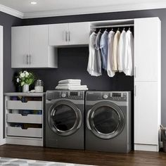 Modifi Horizon White Laundry Cabinets is ideal for casual users and high volume professionals that demand quality at a value price. Laundry Room Cabinets, Laundry Room Organization, Laundry Room Design, Diy Cabinets, Laundry Room With Storage, Laundry Sinks, Hidden Laundry, Laundry Rack, Storage Cabinets
