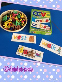 Fill in the missing phonemes on magnetic boards.