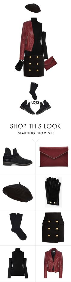 """""""The New Classics With UGG: Contest Entry"""" by dianefantasy ❤ liked on Polyvore featuring UGG, Rebecca Minkoff, Harrods, Ted Baker, Falke, Balmain, MM6 Maison Margiela, Balenciaga, ugg and polyvorecommunity"""