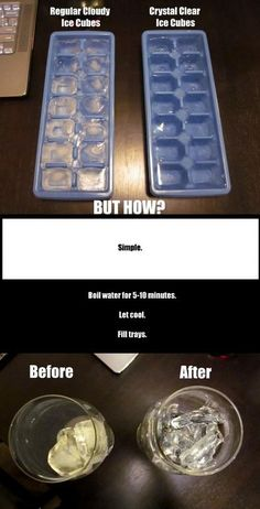 How to make ice cubes that are crystal clear - #Ice, #LifeHack, #Water