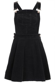 black corduroy overall dress.