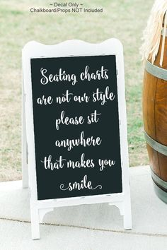 wedding seating Pick A Seat Decal Pick A Seat Vinyl Seating Decal Seating Charts Are Not Our Style Please Sit Anywhere Choose A Seat Decal Wedding Seating, Wedding Vows, Plan Your Wedding, Wedding Bells, Wedding Reception, Rustic Wedding, Wedding Planning, Wedding Day, Reception Ideas