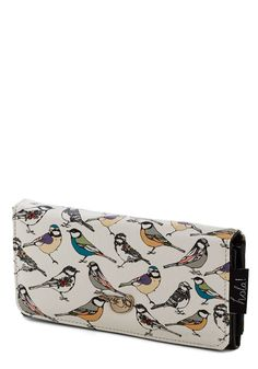 Re-finer Things in Life Wallet. Even the little birds on this printed wallet got all dolled up for your birthday! #multi #modcloth