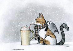 Cider Cat by RobtheDoodler on deviantART
