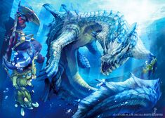 Monster Hunter 3 Ultimate. Don't get me wrong, the art is amazing, but Ivory Lagiacrus doesn't really go into the water like his standard cousin.