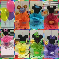 Mickey Mouse club house bucket centerpieces instead use glitter foam Mickey Mouse heads Mickey Mouse Clubhouse Birthday Party, Mickey Mouse Parties, Mickey Birthday, Mickey Party, 2nd Birthday Parties, Elmo Party, Dinosaur Party, Dinosaur Birthday, Birthday Ideas