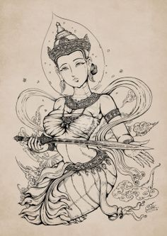 Lady of Ayothaya by In-Sine.deviantart.com on @deviantART