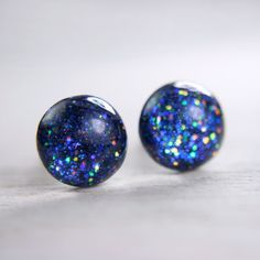 globe earrings in deep blue galaxy - 8mm - galaxy earrings space post... ($20) ❤ liked on Polyvore featuring jewelry, earrings, accessories, clear jewelry, clear crystal earrings, galaxy earrings, clear crystal jewelry and post earrings