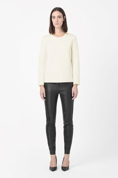 COS | Padded round-neck top