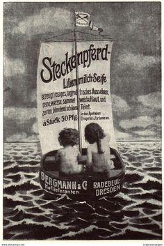 Original-Werbung/ Anzeige 1907 - STECKENPFERD - LILIENMILCH - SEIFE / BERGMANN - RADEBEUL - Ca. 90 X 130 Mm - Werbung