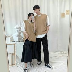 Couple Style, Couple Goals, Fashion Couple, Couple Outfits, Korean Style, Korean Fashion, Normcore, Ootd, Couples