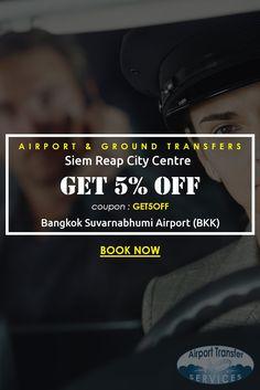 Transfers from Bangkok Suvarnabhumi Airport (BKK) to Siem Reap City Centre… #BangkokAirport #BangkokAirporttransfers #SiemReapCityCentre