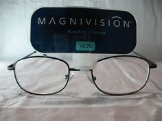 Magnivision Sophisticate Black Reading Glasses Spring Hinges +1.75 2.25 2.75 #Magnivision