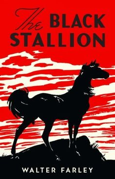 The Black Stallion by Walter Farley. One of my childhood favorites. I love this re-issue of the 1941 edition cover!
