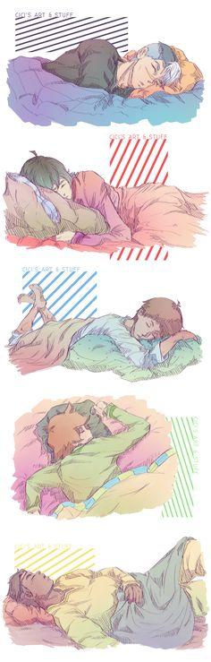 Sleeping paladins :) Let them rest