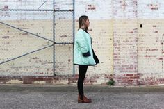 Quilted Jacket - Mint, Frank and Dolly's