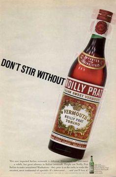 Noilly Prat Vermouth Bottle (1965)