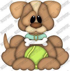S- DOG WOOF PUPPY ~ Scrapbook Embellishment TB1487