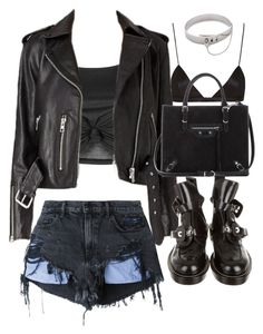 """Untitled #20080"" by florencia95 ❤ liked on Polyvore featuring Topshop, Alexander Wang, NYX, Balenciaga and Eddie Borgo"