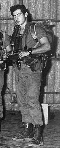 Israeli Prime Minister Benjamin Netanyahu in his younger years... protecting Israel for God and his people.