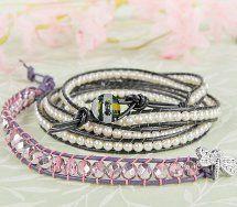 Dragonfly Roundup Wrap Bracelet