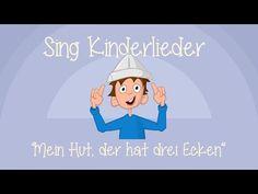 Mein Hut, der hat drei Ecken - Kinderlieder zum Mitsingen | Sing Kinderlieder - YouTube