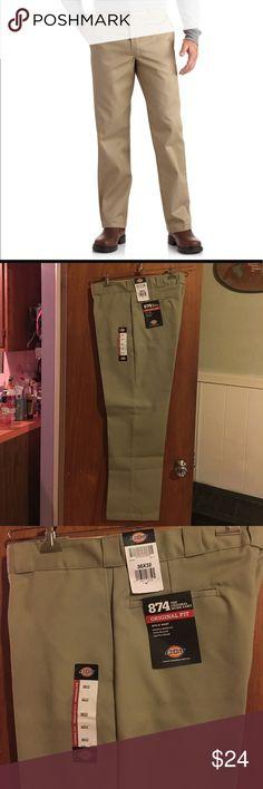 NWT Dickies tan pants sz 36X32 Dickies original fit tan pants men's 36X32 Dickies Pants Chinos & Khakis