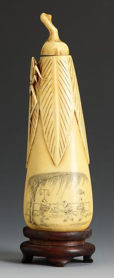 Chinese Ivory Snuff Bottle http://www.liveauctioneers.com/item/16164424_chinese-ivory-snuff-bottle