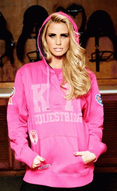 Katie Price Bling Over sized Pink Hoody. This item is designed to be over-sized and slouchy - 100% Cotton