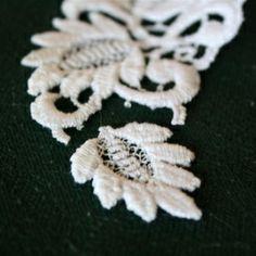Simple, elegant DIY Lace earrings.