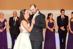 What a wonderful couple.  So in love and so happy to be married.  Eggplant accents looked stunning in the Grand Ballroom for their ceremony and reception.  Thank you Lauren Myers Photography