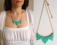 Collar cadena y chaquira