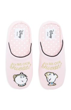 Pink Beauty And The Beast Slippers