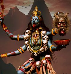Kali known as Mahakali is the goddess of Hindu. Here are 10 facts about Maa Kali: an angry Indian Goddess worshiped for removing darkest evil from the Earth. Kali Tattoo, Kali Mata, Kali Goddess, Indian Goddess, Goddess Art, Tattoo Deus, Mother Kali, Goddess Tattoo, Shiva Shakti