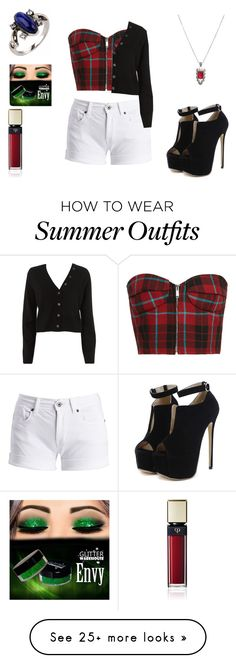 """summer outfit 82"" by adelineojeda on Polyvore featuring WithChic, Barbour International, A.L.C., Hot Topic and Clé de Peau Beauté"