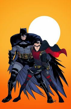"""Batman & Robin (^.^) Thanks, Pinterest Pinners, for stopping by, viewing, re-pinning, & following my boards. Have a beautiful day! ^..^ and """"Feel free to share on Pinterest ^..^ #unocollectibles, #comics #movies #art"""