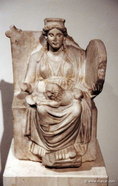 The Mother of The Gods, called Agdistis and Cybele, and identified with Rhea the wife of Cronos. Griechisch v. Divine Mother, Mother Goddess, Ancient Goddesses, Gods And Goddesses, Roman Sculpture, Sculpture Art, Potnia Theron, Artemis, Classical Greece