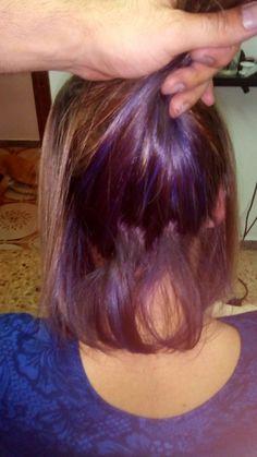 Un poquito de alegría #violeta #work #hairstyle
