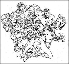 fantastic four coloring pages # 4