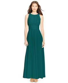 Imagine in black- Macy's Lauren Ralph Lauren Sleeveless Ruched Gown