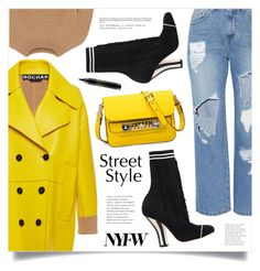 """NYFW Street Style: Day One"" by marina-volaric ❤ liked on Polyvore featuring Rochas, Steve J & Yoni P, Fendi, Proenza Schouler, The Row, MAC Cosmetics, StreetStyle and NYFW"